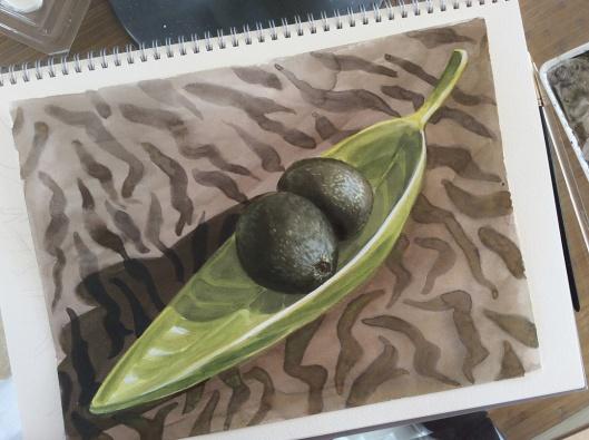 Acacados - 12x9 watercolor